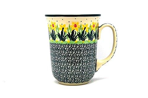 Polish Pottery Mug - 16 oz Bistro - Daffodil