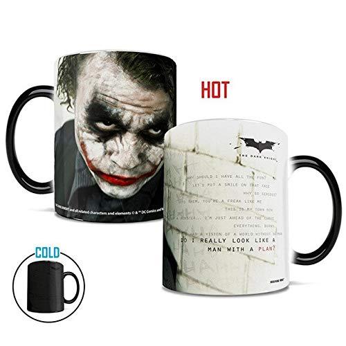 1Pcs New 350mL Batman Joker Mug Cold Hot Heat Changing Color Magic Mug Tea Coffee Milk Cups Best Gift for Yourself Friends Kids