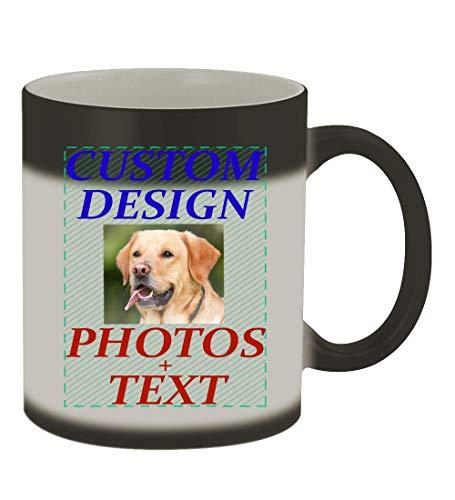 Custom Printed 11oz Ceramic Magic Color Changing Mug CP06 Matte Black