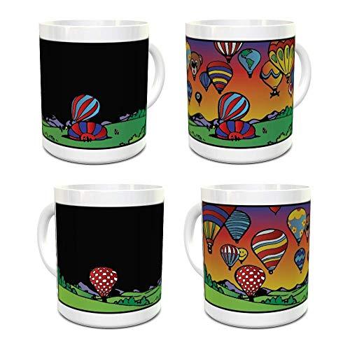 I Love Balloons Magic Mug - Color Changing Mug - Coffee Mug - Hot Air Balloon Gifts - 11oz size