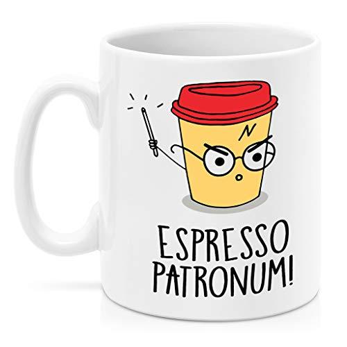 SAYOMEN - Potter Mug - Espresso Patronum Patronum Mug Potter Mugs Harry Mug Geek Coffee Mugs Magic Mugs Cocoa Mug Espresso Gift MUG 15oz