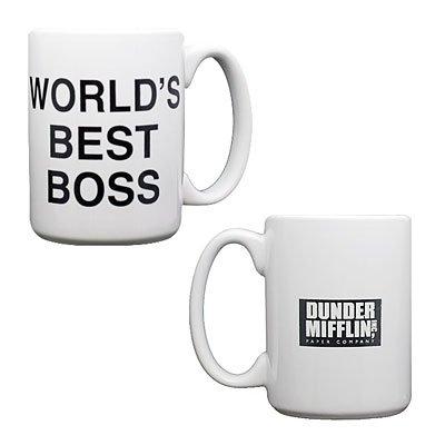 The Office Dunder Mifflin Worlds Best Boss Coffee Mug by NBC