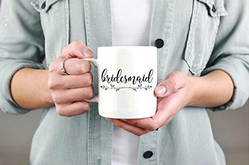 LIZNICE - Bridesmaid coffee mugbridesmaid gift bridal party coffee mugsBride giftBridal shower giftwedding coffee mugbridal party cups
