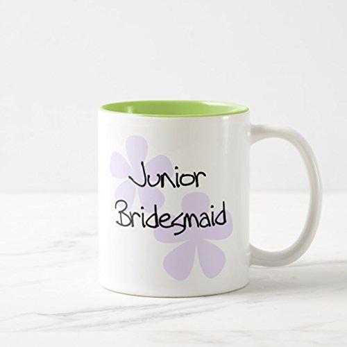 Zazzle Lilac Flowers Jr Bridesmaid Coffee Mug Lime Two-Tone Mug 11 oz
