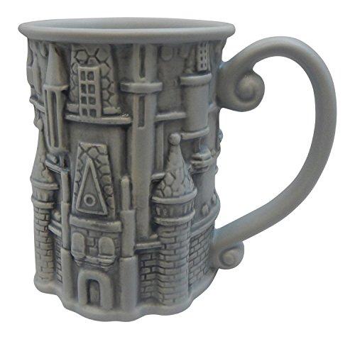 Disney Park Castle Carving 3D Large Ceramic Mug NEW