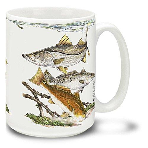 Saltwater Fishing Favorites Mahi Mahi - 15 oz Large Ceramic Coffee Mug