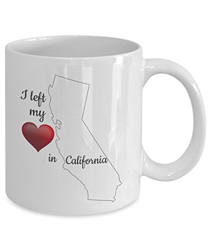 Cali Girl Stuff - I Left my Heart in California Coffee Mug - Related Gifts - Themed Box Basket