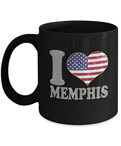 Memphis Tennessee Coffee Mug - 11oz Black Ceramic Tea Cup Retro Country USA Flag Pride Novelty Holiday Christmas Gift Set of 1