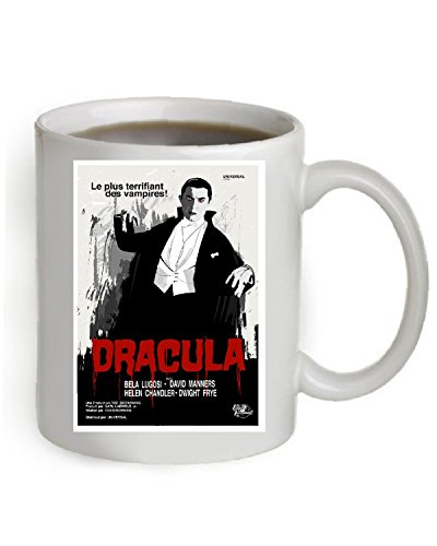 Dracula Coffee Mug OZ The Poster is printed on both sides of the Mug