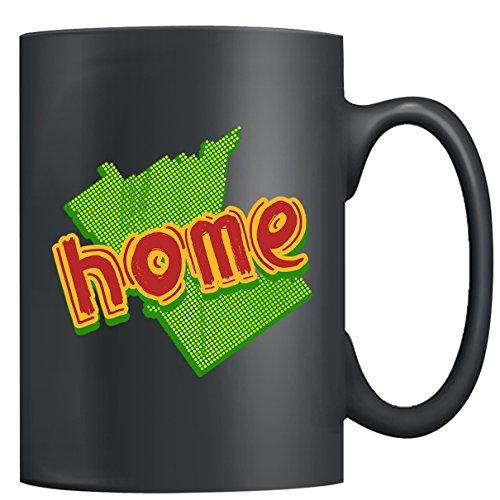 Minnesota Coffee Mug Ceramic - Minnesota Home Mugs Tea Cup Black Mug 15oz For You And Family