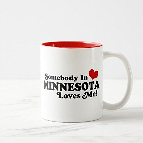 Zazzle Minnesota Coffee Mug Red Two-Tone Mug 11 oz