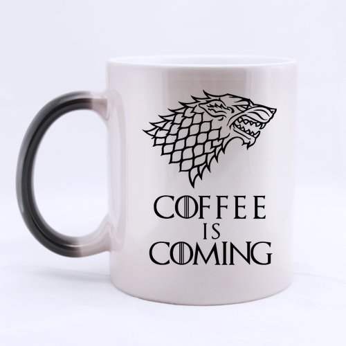 Funny Funny Wolf Coffee Mug - Coffee Is Coming Morphing Coffee Mug or Tea CupCeramic Material Mugs11oz