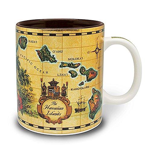 4 Pack Hawaiian Coffee Mugs 14 oz Islands