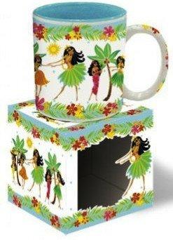 Hawaiian Coffee Mugs 4 Pack Hula Honeys