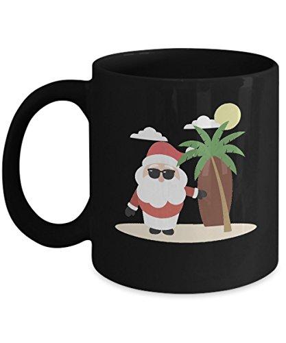 Shirt White Christmas In July Santa Cocktail Hawaiian Coffee Mug 11oz Black