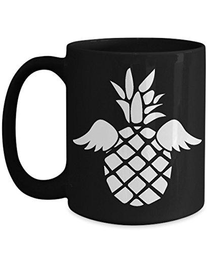 Shirt White Pineapple Flowers Vintage Hawaiian Coffee Mug 15oz Black