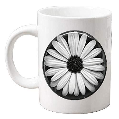 Daisy Coffee Mug Glass Tile Jewelry Flower Coffee Mug Flower Jewelry Daisy MugQ0269