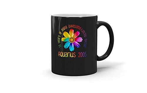 TALOGEM COFFEE MUG Daisy 15th Birthday Aquarius 2005 Gift Girl For Men Women 200114 11oz Black Mug