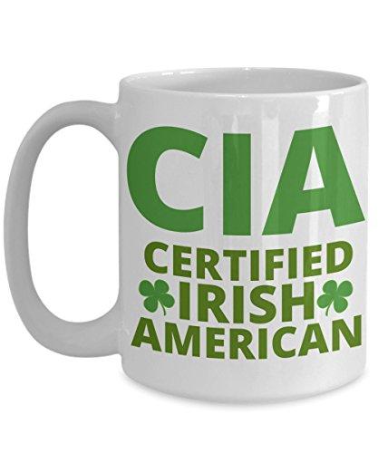 CIA Certified Irish American Coffee Mug St Patricks Day Gift