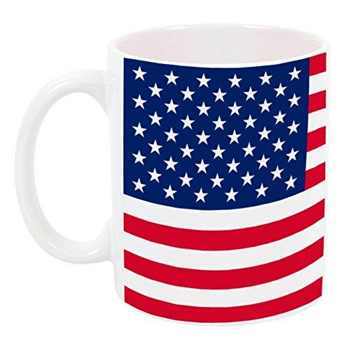 High Tide Mugs American Flag Patriotic Design USA Fourth of July Coffee Mug Red White Blue