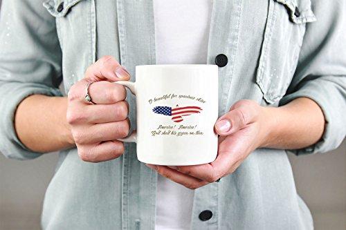 O Beautiful For Spacious Skies American Coffee Mug 11oz 15oz gift