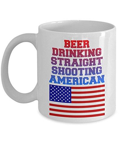 Proud To Be An American Coffee Mug - Gifts For Hubby Wifey Wife Husband Mom Dad Daughter Son Friend Women Men Birthday Christmas - 11 oz Mug Tea Cup
