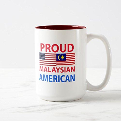 Zazzle Proud Malaysian American Coffee Mug Maroon Two-Tone Mug 15 oz
