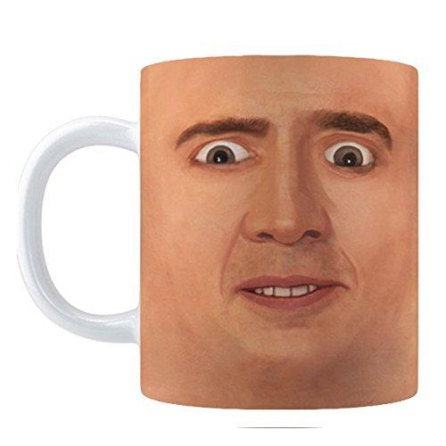 Creepy Cage Face Coffee Mug 11oz