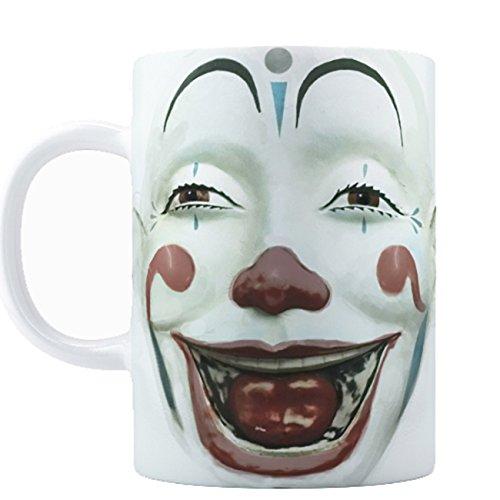 Retro Clown Face Coffee Mug 15oz