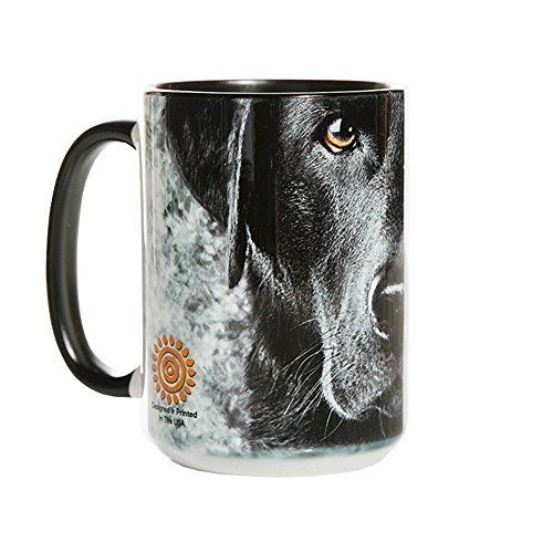 The Mountain 57325509001 Lab Face Coffee Mug 15 oz Black