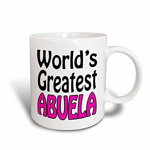 3dRose mug_159595_2 WorldS Greatest Abuela Pink Ceramic Mug 15-Ounce