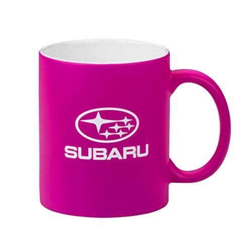 Genuine Subaru Neon Hot Pink Ceramic Coffee Mug Cup