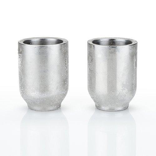 Glacier Rocks Freezable Stainless Steel Shot Glasses by Viski