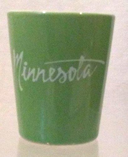MINNESOTA Shot Glass Souvenir of Minnesota Shot Glass Green Shot Glass