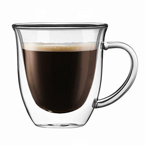 JoyJolt Serene Double Walled Glasses insulated Coffee Mug 74 Oz Set of 2