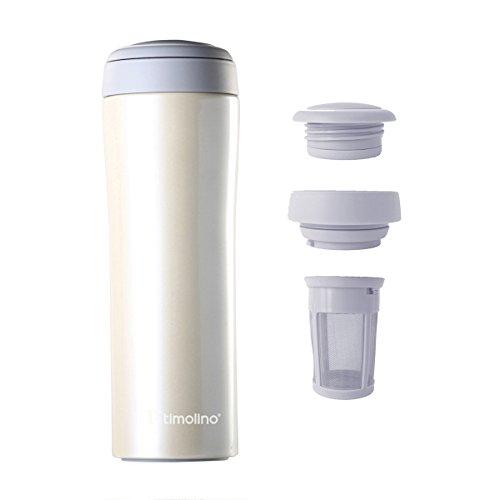 Timolino Tea2Go Vacuum Mug Grande 17 oz Ivory White