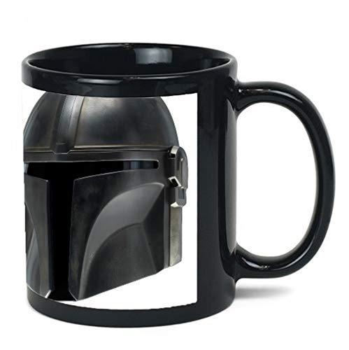 Bounty Hunter Helmet Decal 11 ounce BLACK Ceramic Coffee Mug Tea Cup by egeek amz