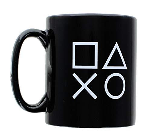 PlayStation Logo and Icons Black Ceramic Coffee Mug