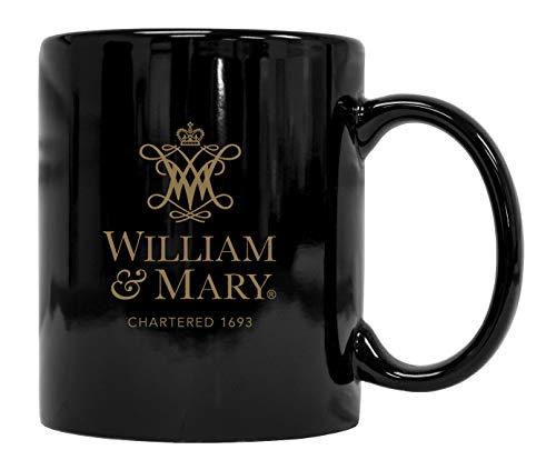 William and Mary Black Ceramic Coffee Mug