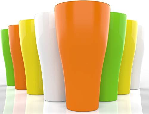 ML&LSK Unbreakable Dishwasher Safe Plastic Tumbler Cups - 17 oz - Set of 8