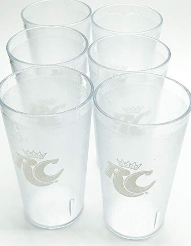 RC Cola-RC Logo Clear Plastic Tumblers Set of 6-16oz