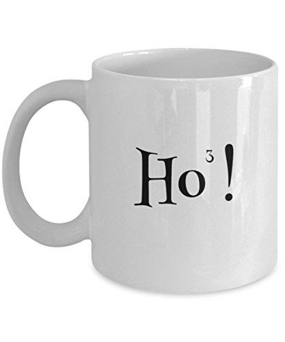 Xmas Mug - Ho3 Ho Ho Ho - Funny Secret Santa Kris Kringle or Christmas Holiday Gift - Ceramic Coffee or Tea Cup 11oz by ProtoPixie