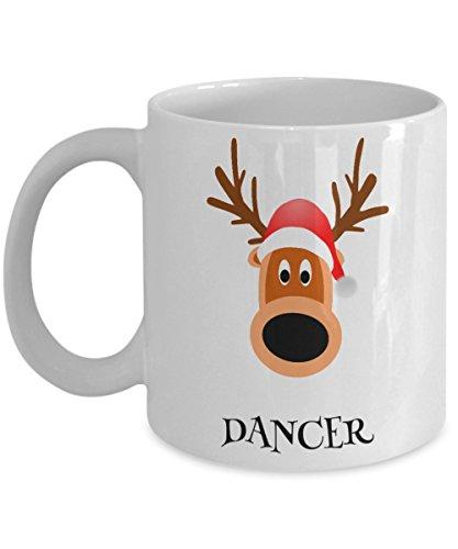 Xmas Mug - Reindeer Dancer - Funny Secret Santa Kris Kringle or Christmas Holiday Gift - Ceramic Coffee or Tea Cup 11oz by ProtoPixie