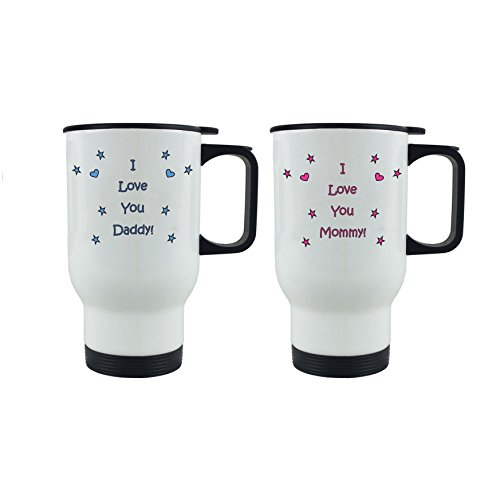 I Love you DaddyMommy Coffee Mugs with Gift Boxes Bundle - Expecting DaddyMommy Fathers DayMothers Day Worlds Best MommyWorlds Best Daddy