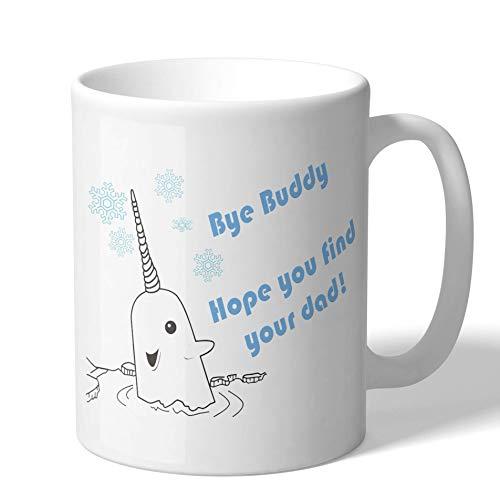 MugBros Elf Inspired Narwhal Bye Buddy Funny Coffee Mug Christmas Gift funny stocking stuffer winter gift mug