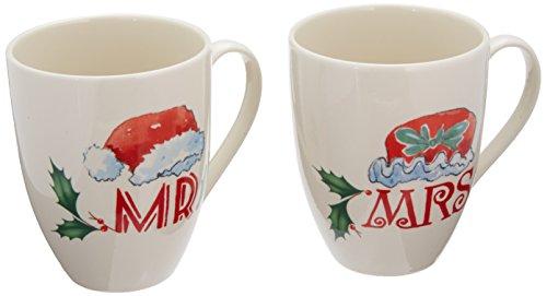 Lenox Home for The Holidays Mr and Mrs Mug Set Ivory
