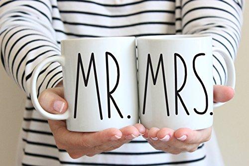 Mr Mrs Coffee Mug Set