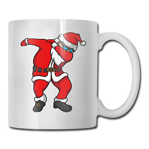 Dabbing Santa Funny Christmas Coffee Mug 11 Oz Coffee Mug Funny Coffee Mug Tea Cup Novelty Birthday Gift Ideas For Men Women