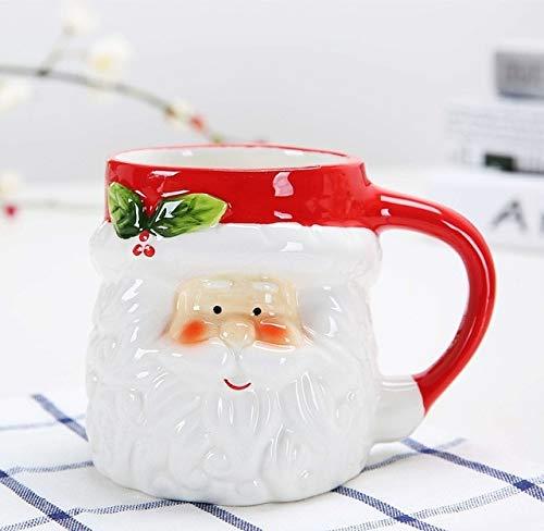 Fiesta Ceramic Mug Santa Christmas Mugs Cute Animal Milk Cup Creative Coffee Tea Cups Home Office Water Cups Xmas Gift Mugs Drinkware santa claus 301-400ml