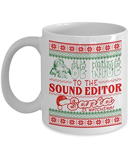 Sound Editor Santa Christmas Mug - Funny Christmas gift for sound editor
